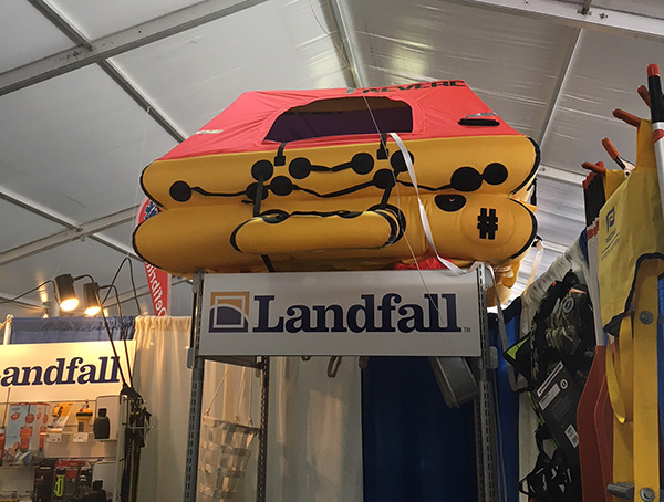 Revere liferaft at Newport Boatshow