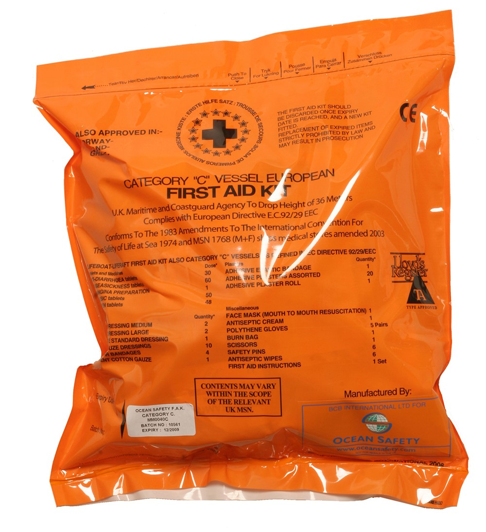 Ocean Safety Ltd - MHRA Cat C Medical Kit must be purchased from