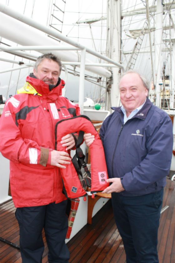 Lifejackets for Lord Nelson