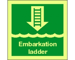 4104jj embarkation ladder sign