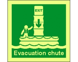 4120jj evacuation chute sign
