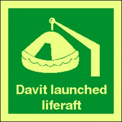 4103jj davit lauched sign